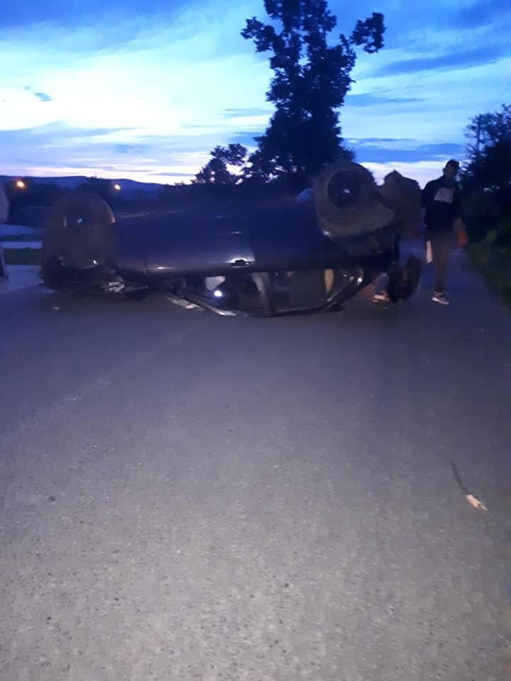 Cascador fără voie pe un drum din Arad! A pierdut controlul