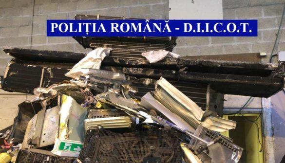 Acțiune româno-franceză, pentru destructurarea unei grupări specializate în furturi (GALERIE FOTO)