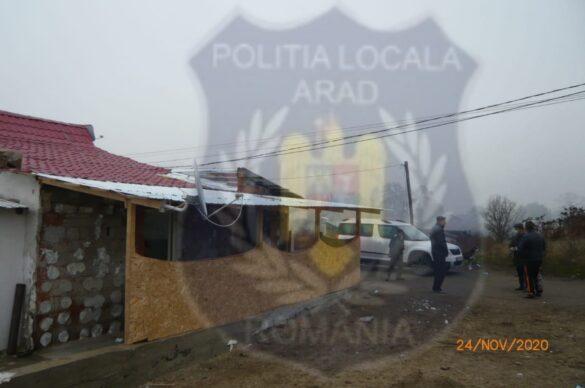 Construcții neautorizate pe strada Mărului