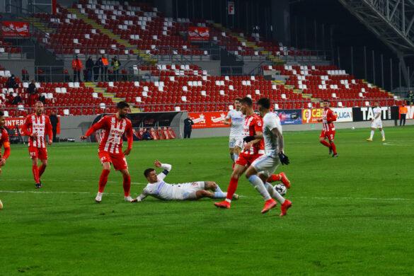 FCSB, victorie chinuită în cursa pentru titlu. Arădenii puteau da lovitura în minutul 90+2 (GALERIE FOTO)