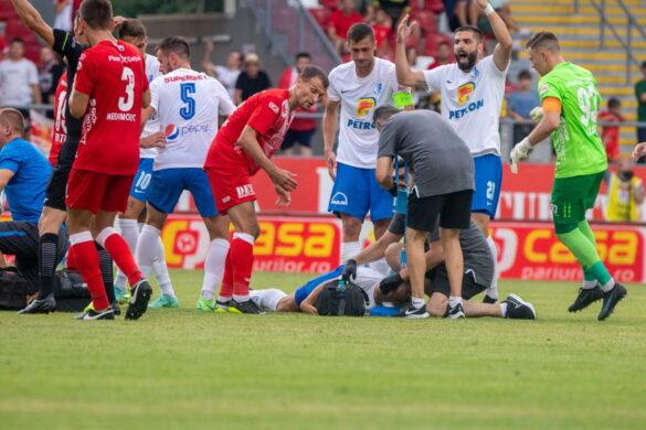 UTA a reușit doar un meci nul cu echipa antrenată de Hagi. Dănuleasă, transportat de urgență la spital (VIDEO+GALERIE FOTO)